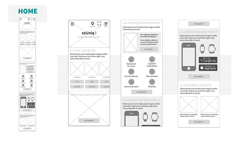 Wireframe Mobile Home