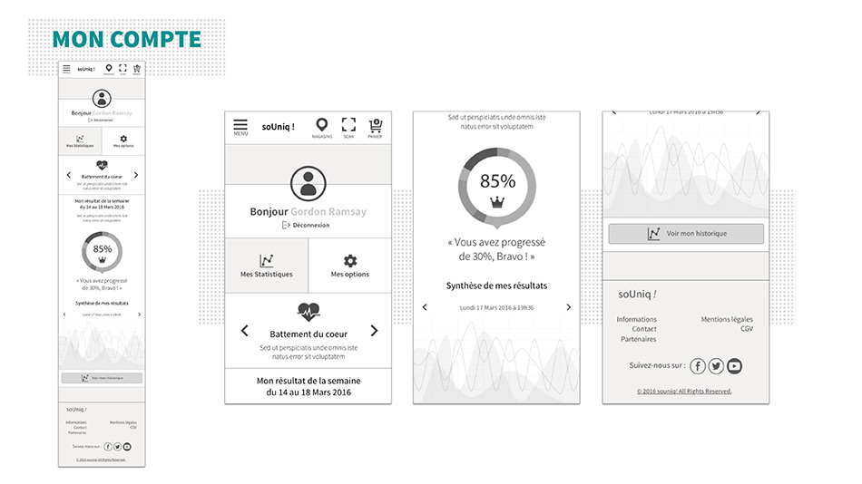 Wireframe Mobile Compte
